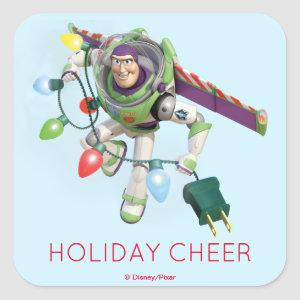 Toy Story | Buzz Lightyear Decorating Christmas Square Sticker