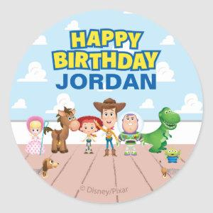 Toy Story Character Birthday Classic Round Sticker