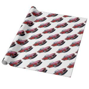 TR6 red Wrapping Paper
