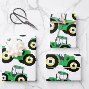 Tractor Truck Farm Equipment Wrapping Paper Sheets