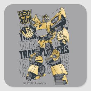 Transformers | Bumblebee Foiled Graphic Square Sticker