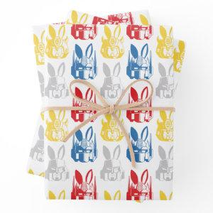Transformers Bunny Ear Easter Pattern Wrapping Paper Sheets
