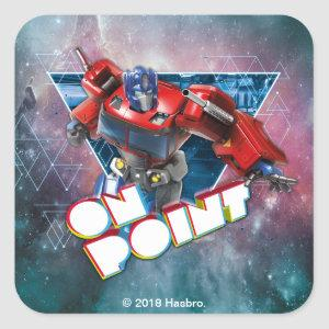 Transformers | Interstellar Optimus Prime Badge Square Sticker