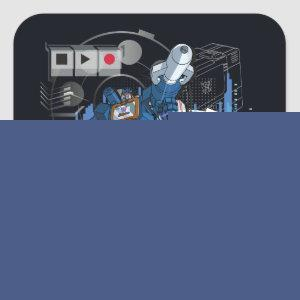 Transformers | Soundwave Iconography Collage Square Sticker