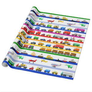 Transportation Toys Wrapping Paper