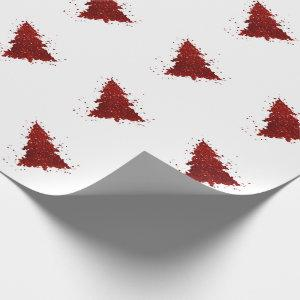 Tree Rich Holiday | Festive Red Splatter Christmas Wrapping Paper