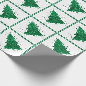 Tree Whimsy | Bold Kelly Emerald Green Christmas Wrapping Paper