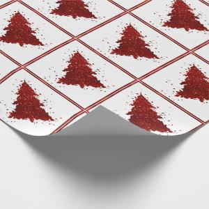 Tree Zest | Crimson Red Festive Christmas Wrapping Paper