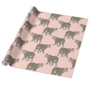 Trendy Chic leopard animal pattern Wrapping Paper