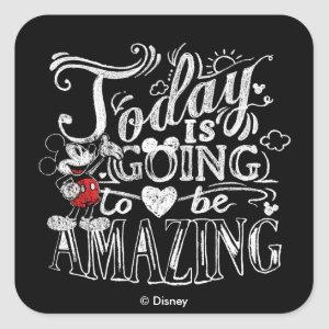 Trendy Mickey | Today Is Going To Be Amazing Square Sticker