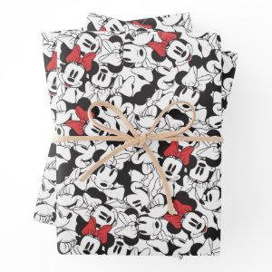 Trendy Minnie | Monogram Classic Pattern Wrapping Paper Sheets