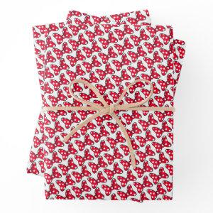 Trendy Minnie | Polka Dot Bow Wrapping Paper Sheets