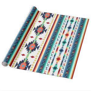 trendy tribal ethnic geometric pattern wrapping paper
