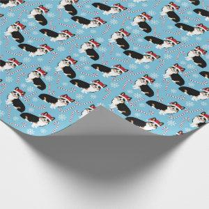 tri colored corgi wrapping paper