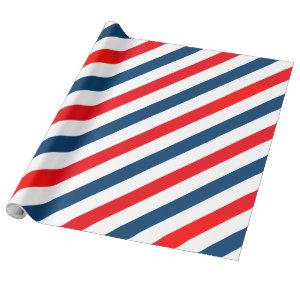 Tricolor Diagonal Lines (blue, white, red)
