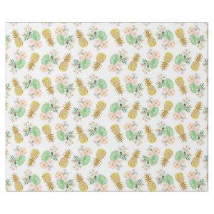 Tropical Flower Pineapple Wrapping Paper
