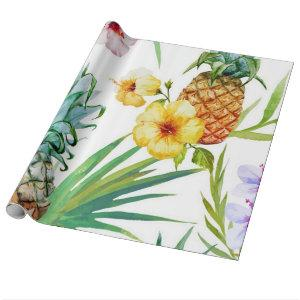 Tropical Paradise Pineapple Wrapping Paper