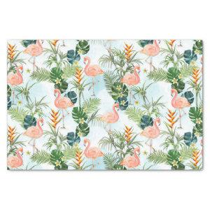 Tropical Pattern. Flamingos Tissue Paper