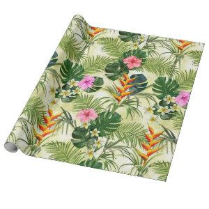 Tropical Pattern Wrapping Paper