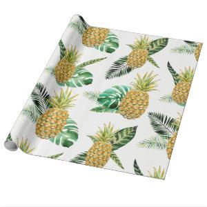 Tropical Pineapple Wrapping Paper
