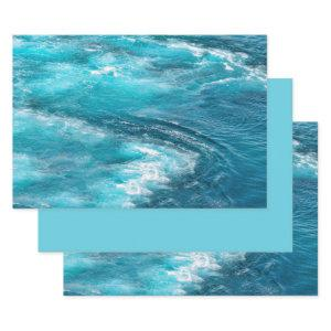 Tropical Turquoise Caribbean Ocean Cruise Photo Wrapping Paper Sheets
