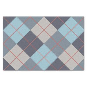 Trout Blue Gray Cotton Seed Orange Red Pattern  Tissue Paper