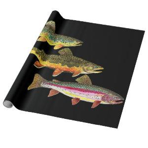 Trout Fishing Wrapping Paper