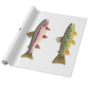 Trout Fly Fishing Wrapping Paper