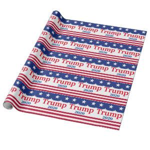 Trump 2020 American Flag Patriotic Wrapping Paper