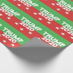 TRUMP 2020 Red Green Christmas Wrapping Paper