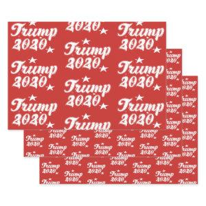 Trump 2020 Stars Red White Wrapping Paper Sheets
