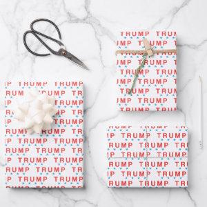 TRUMP and blue Stars Wrapping Paper Sheets