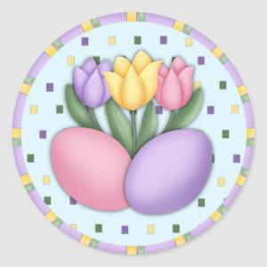Tulips and Eggs Stickers