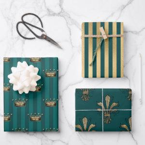 Turquoise - Teal and Gold Paris Theme  Sheets