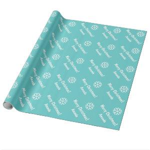 Turquoise Wrapping paper Christmas | Personalized