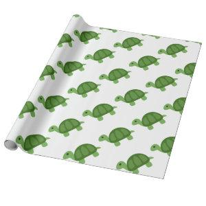 Turtle Emoji Wrapping Paper