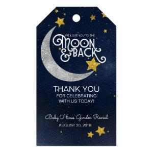 Twinkle Little Star Moon & Back Thank You Gift Tags