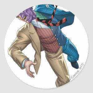 Two Face Falls Classic Round Sticker