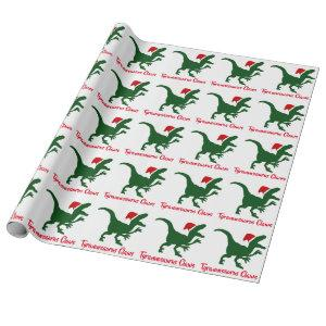 Tyrannosaurus Claws Christmas Wrapping Paper