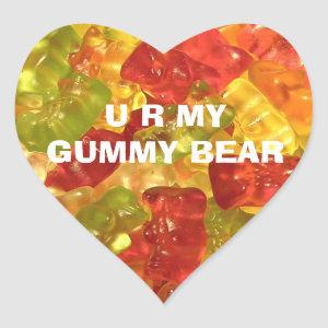 U R My Gummy Bear Stickers