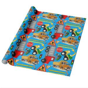 Under construction | wrapping paper