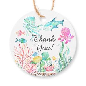Under The Sea Baby Shower Favor Gift Tag