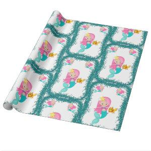 Under the Sea Mermaid Wrapping Paper