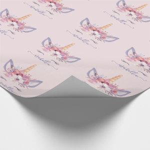 Unicorn gift wrap