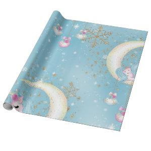 Unicorn Moon Christmas Wrapping Paper