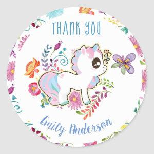 Unicorn Playground - Stickers for Baby Shower