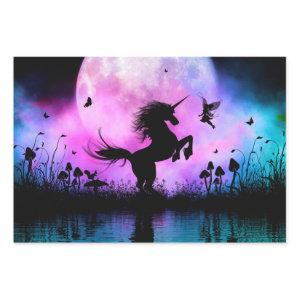 Unicorn with little fairy wrapping paper sheets