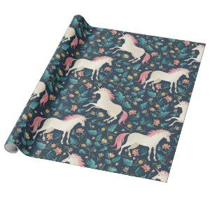 Unicorns in the Forest Wrapping Paper