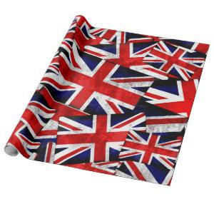 Union Jack British England UK Flag Wrapping Paper