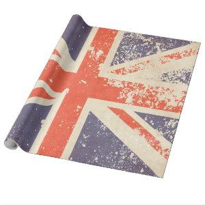 Union Jack Distressed Flag Wrapping Paper